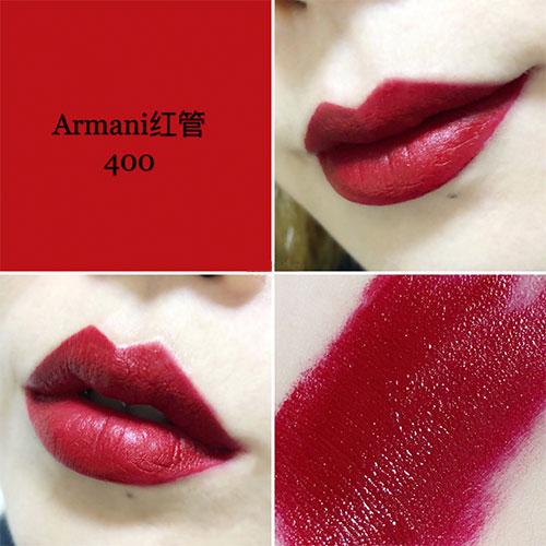 阿玛尼红管唇釉400好看吗  阿玛尼红管400试色报告分享!